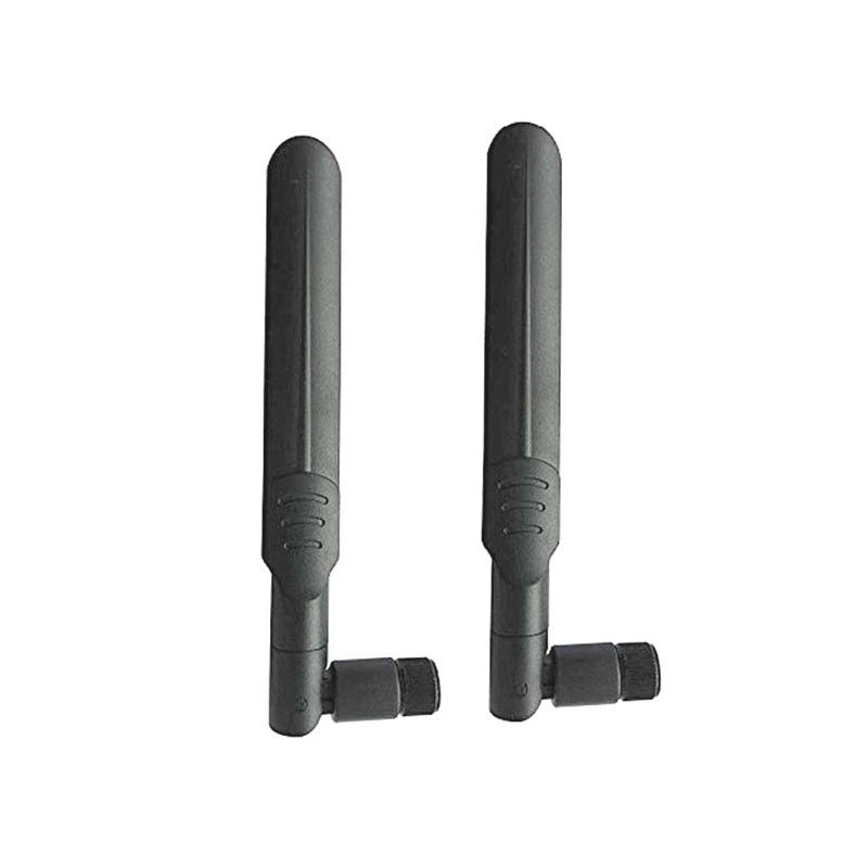 Black Rubber 2.4G And Wifi Antenna Network Router SMA Male Vertical Polarization